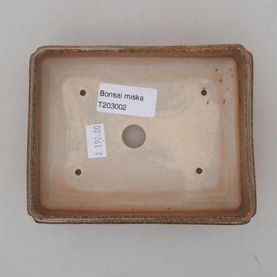 Ceramic bonsai bowl 13 x 10 x 4 cm, color green - 3