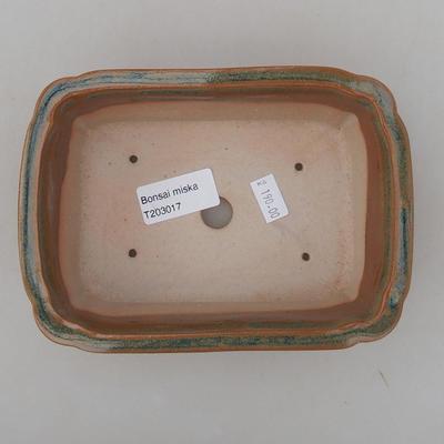 Ceramic bonsai bowl 17 x 12 x 5.5 cm, brown color - 3