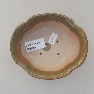 Ceramic bonsai bowl 13 x 11 x 5 cm, brown color - 3