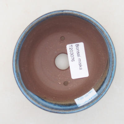 Ceramic bonsai bowl 10 x 10 x 4.5 cm, color blue - 3