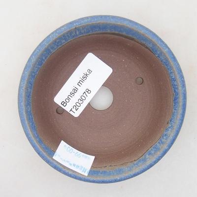 Ceramic bonsai bowl 9 x 9 x 2.5 cm, color blue - 3