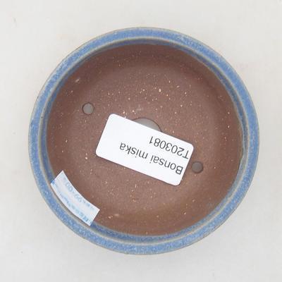 Ceramic bonsai bowl 8 x 8 x 3 cm, color blue - 3
