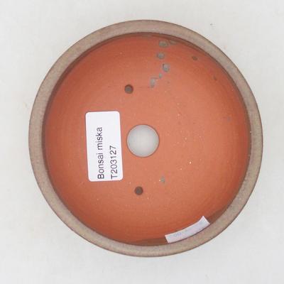 Ceramic bonsai bowl 11 x 11 x 4.5 cm, brown color - 3