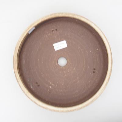 Ceramic bonsai bowl 25 x 25 x 7 cm, color beige - 3