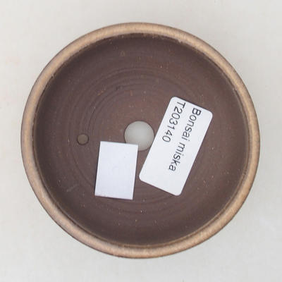 Ceramic bonsai bowl 8.5 x 8.5 x 4.5 cm, brown color - 3
