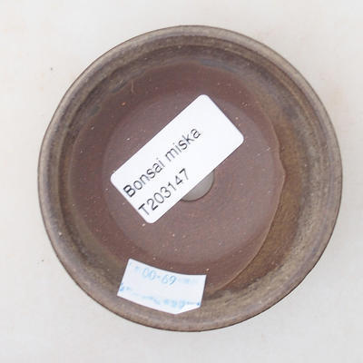 Ceramic bonsai bowl 8 x 8 x 2.5 cm, gray color - 3