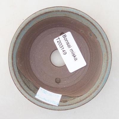 Ceramic bonsai bowl 9 x 9 x 3 cm, gray color - 3