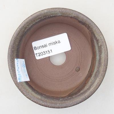 Ceramic bonsai bowl 9 x 9 x 2.5 cm, gray color - 3