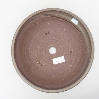 Ceramic bonsai bowl 24 x 24 x 7,5 cm, color gray - 3