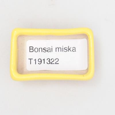 Mini bonsai bowl 4,5 x 3 x 1,5 cm, yellow color - 3