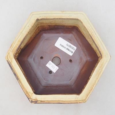 Ceramic bonsai bowl 17 x 15.5 x 6 cm, brown color - 3