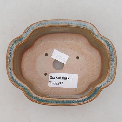 Ceramic bonsai bowl 13 x 10 x 5 cm, color gray-rusty - 3