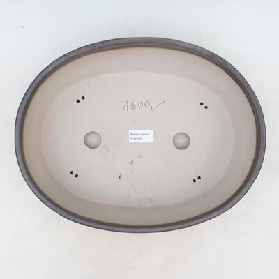 Bonsai bowl 34 x 27 x 10 cm, color beige - 3