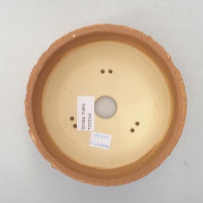 Ceramic bonsai bowl 14 x 14 x 8.5 cm, color cracked - 3