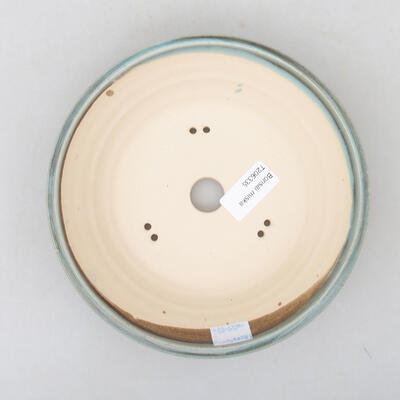 Ceramic bonsai bowl 18.5 x 18.5 x 5 cm, color green - 3