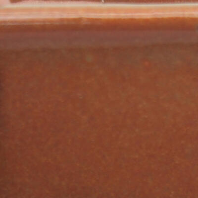 Ceramic bonsai bowl 10 x 10 x 6.5 cm, color gray-rusty - 3