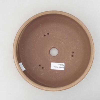 Ceramic bonsai bowl 20 x 20 x 5.5 cm, brown color - 3