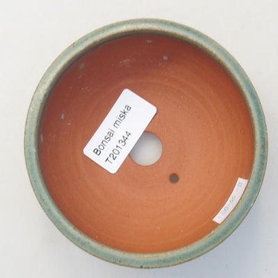 Ceramic bonsai bowl 10 x 10 x 4.5 cm, color green - 3