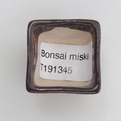Mini bonsai bowl 3,5 x 3,5 x 2,5 cm, color brown - 3