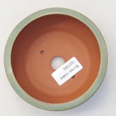 Ceramic bonsai bowl 10 x 10 x 3.5 cm, color blue - 3