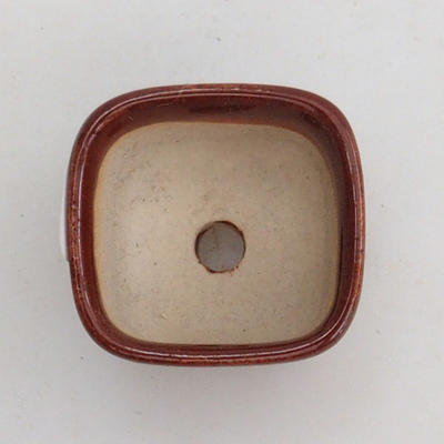 Mini bonsai bowl 2,5 x 2,5 x 2 cm, color brown - 3