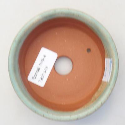 Ceramic bonsai bowl 10 x 10 x 3.5 cm, color green - 3