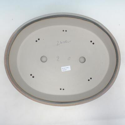 Bonsai bowl 45 x 36.5 x 9 cm, gray-beige color - 3