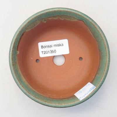 Ceramic bonsai bowl 11 x 11 x 4 cm, color green - 3