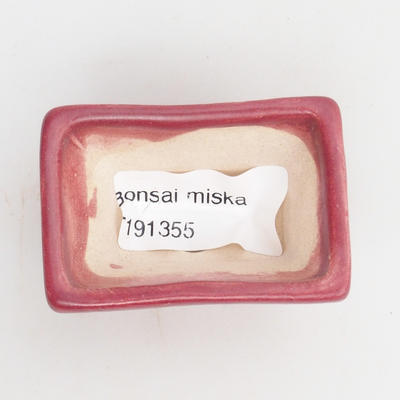 Mini bonsai bowl 5,5 x 4 x 3 cm, color red - 3