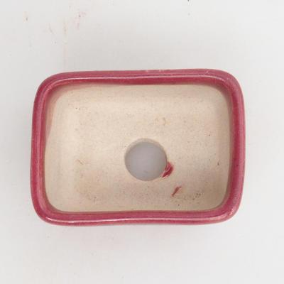 Mini bonsai bowl 4,5 x 3 x 2 cm, color red - 3