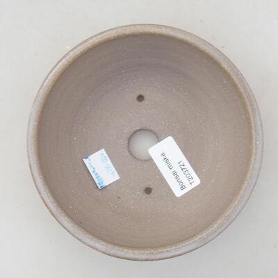 Ceramic bonsai bowl 14 x 14 x 4 cm, beige color - 3