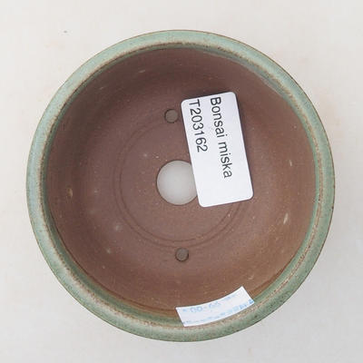 Ceramic bonsai bowl 9 x 9 x 4 cm, color green - 3
