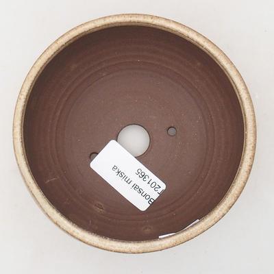 Ceramic bonsai bowl 10.5 x 10.5 x 5 cm, beige color - 3