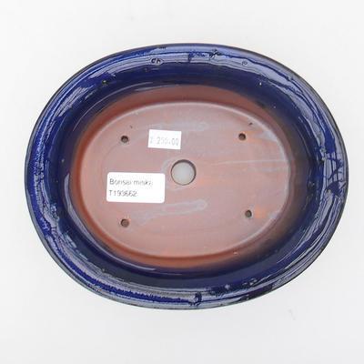 Ceramic bonsai bowl 19 x 15,5 x 6 cm, color blue - 3