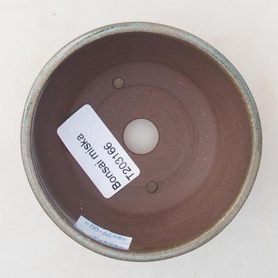 Ceramic bonsai bowl 8.5 x 8.5 x 4.5 cm, color green - 3