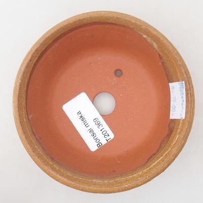Ceramic bonsai bowl 10.5 x 10.5 x 4 cm, brown color - 3