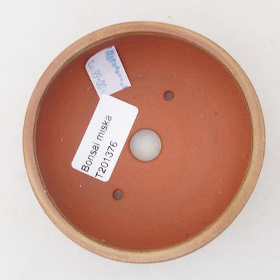 Ceramic bonsai bowl 9.5 x 9.5 x 4 cm, brown color - 3