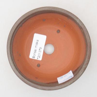 Ceramic bonsai bowl 11 x 11 x 4 cm, gray color - 3