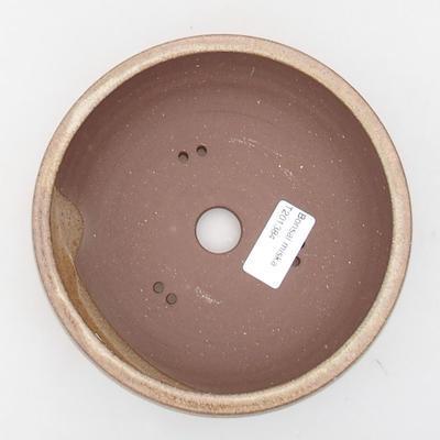 Ceramic bonsai bowl 16 x 16 x 5.5 cm, beige color - 3