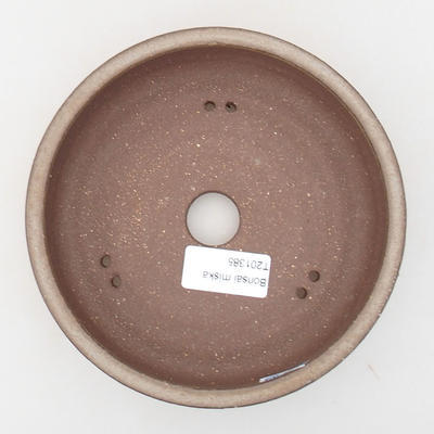 Ceramic bonsai bowl 15.5 x 15.5 x 4.5 cm, brown color - 3