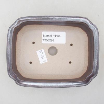Ceramic bonsai bowl 14 x 11 x 4 cm, color brown - 3