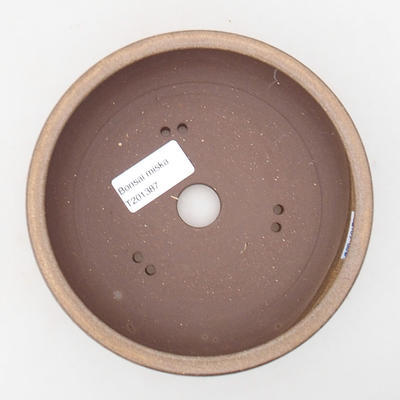 Ceramic bonsai bowl 15 x 15 x 5 cm, color brown - 3