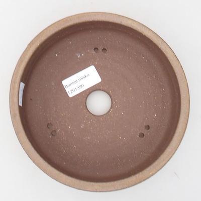 Ceramic bonsai bowl 17 x 17 x 5 cm, color brown - 3