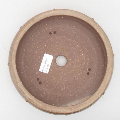 Ceramic bonsai bowl 19.5 x 19.5 x 5.5 cm, brown color - 3