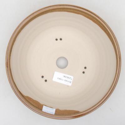 Ceramic bonsai bowl 20 x 20 x 6.5 cm, brown color - 3