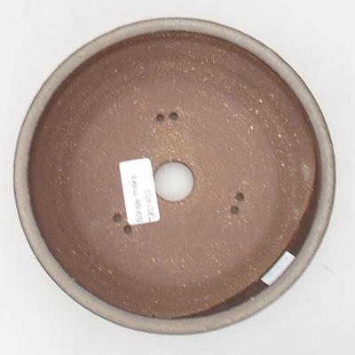 Ceramic bonsai bowl 17.5 x 17.5 x 5.5 cm, gray color - 3