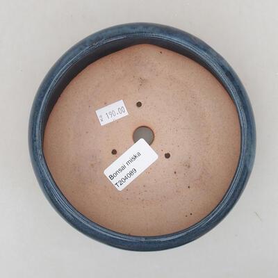 Ceramic bonsai bowl 13.5 x 13.5 x 6 cm, color blue - 3