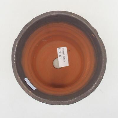 Ceramic bonsai bowl 14 x 14 x 13.5 cm, color blue - 3