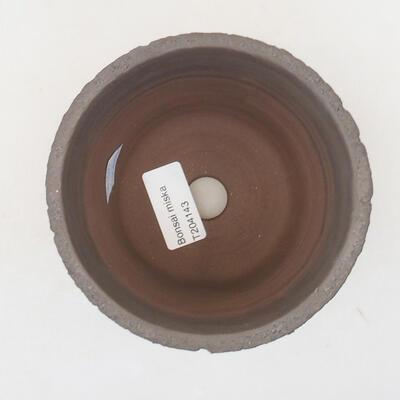 Ceramic bonsai bowl 12 x 12 x 10 cm, color black - 3