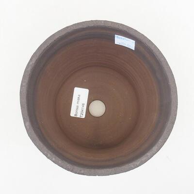 Ceramic bonsai bowl 15.5 x 15.5 x 13 cm, color black - 3